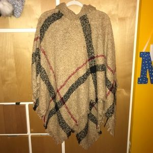 Sweaters - Burberry Print Poncho